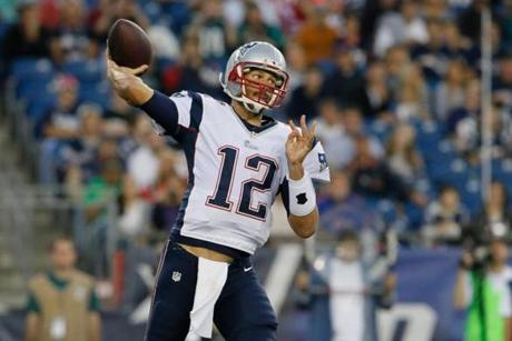 Patriots quarterback Tom Brady made his exhibition debut against the Philadelphia Eagles on Friday night.